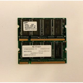 256MB 266MHz DDR1 RAM PC2100S 200-Pin Pol SODIMM Laptop Memory Notebook Speicher